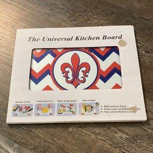 NIB Custom Fleur De Lis Universal Kitchen Board